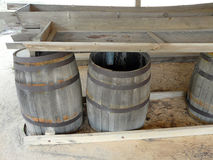 Barrels at Turpentine Still Outdoor Museum Royalty Free Stock Photography