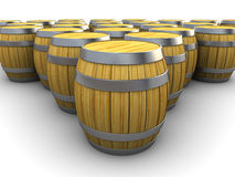 Barrels warehouse Stock Images