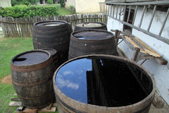 Barrels with water Royalty Free Stock Images