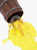 Barrels, which pours alcohol. 3d illustration. Stock Image