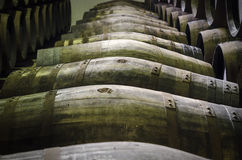 Barrels of whiskey Royalty Free Stock Images