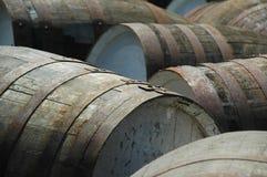 barrels whisky Arkivbilder