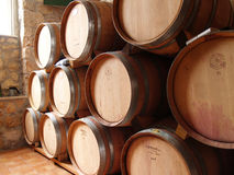 Barrels of wine royalty free stock photo