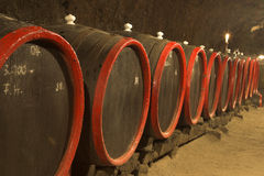 Barrels for wine Stock Image