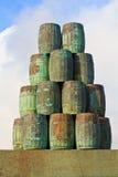 Barrels of Wine stock image