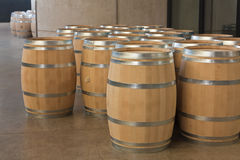 Barrels of wine Stock Photo