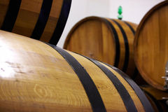Barrels in a wine Royalty Free Stock Image