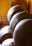 Barrels in a wine Royalty Free Stock Photo
