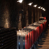 Barrels in a wine-cellar Royalty Free Stock Image