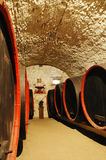 Barrels in a wine-cellar Royalty Free Stock Photo