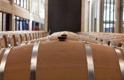 Barrels of wine in cellar Royalty Free Stock Photos