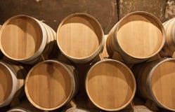 Barrels of wine in cellar Stock Photos