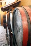 Barrels in a wine cellar Royalty Free Stock Photo