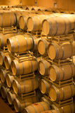 Barrels in Wine Cellar Stock Image