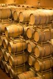 Barrels in Wine Cellar. Barrels in the famous wine cellar of vineyard Guado al Tasso in Bogheri, Tuscany, Italy Stock Image
