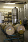 Barrels Of Wine In Cellar Royalty Free Stock Photography
