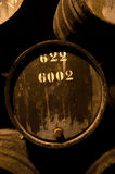 Barrels in the wine cellar, Porto, Portugal stock image