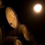 Barrels in the wine cellar, Porto, Portugal Stock Photos