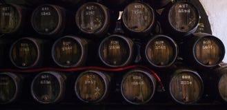 Barrels in the wine cellar, Porto, Portugal Stock Image