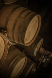 Barrels in Wine Cellar Royalty Free Stock Photo