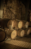 Barrels in Wine Cellar Royalty Free Stock Images