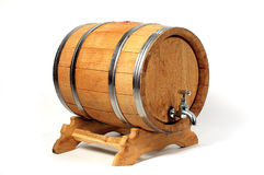 Barrels for wine. Oakwood isolated stock photography