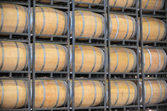 Barrels of Wine in a Vineyard Stock Images