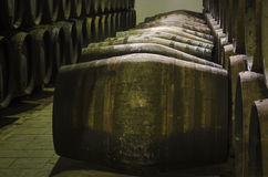 Barrels of wine or whiskey Royalty Free Stock Photo
