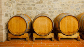 Barrels with wine Stock Photos