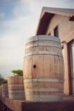 Barrels for wine Stock Photo