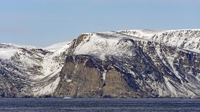 Barren Cliffs in the High Arctic. On Baniff Island in Nunavut Canada Royalty Free Stock Images