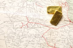 Barren des Gold Bar Stockfotografie