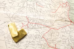 Barren des Gold Bar lizenzfreie stockbilder