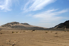 Barren Desert Landscape Royalty Free Stock Photo