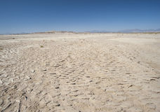 Barren desert landscape in hot climate Stock Photography