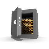 Barren Gold im Safe Lizenzfreie Stockbilder