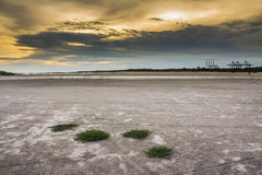 Barren ground sunset Royalty Free Stock Images
