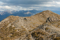Barren hill in Southern Alps Royalty Free Stock Image