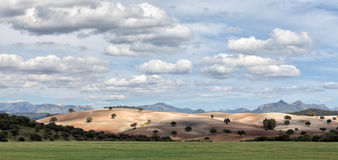Barren hill in Spain Royalty Free Stock Image