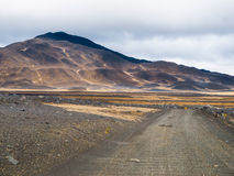 Barren inland landscape of northern Iceland Royalty Free Stock Image