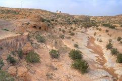 Barren land of Tunisia Stock Photos