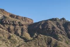 Barren land. Barren volcanic landscape - noe people - blue sky - Teide National Park - Tenerife, Canary Islands, Spain Stock Image