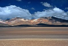 Barren Landscape in Bolivia,Bolivia Stock Photography