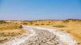 Barren Landscape in Crimea. Moving image of a road in a barren landscape in the Eastern part of Crimea. Footage in RAW format stock video footage
