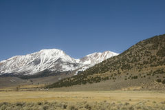 Barren landscape in Sierra Nevada stock photography