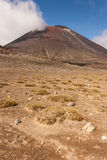 Barren landscape in Tongariro National Park Royalty Free Stock Photo
