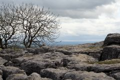 Barren Malham Cove Stock Image