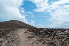 Barren Mountain Track (2). Path leading up Rocky Mountainside Stock Photography