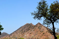Barren mountains of aravali range. One of the oldest mountain range in the world. Image clicked outskirt Jaipur Rajasthan India Royalty Free Stock Photography