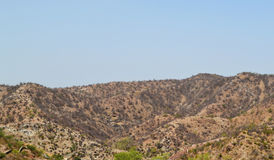 Barren mountains of aravali range. One of the oldest mountain range in the world. Image clicked outskirt Jaipur Rajasthan India Royalty Free Stock Image